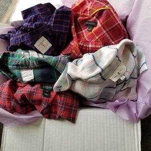 5 plaid shirts xs s